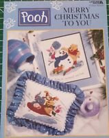 Winnie The Pooh - Merry Christmas to You Cross Stitch Leaflet Leisure Arts
