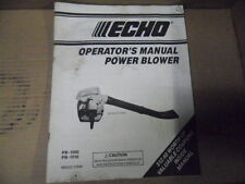 ECHO PB1000 PB1010 HAND HELD  GAS BLOWER MANUAL