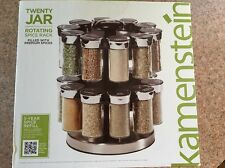 Kamenstein Two Tier Rotating Spice Rack W/ Spices