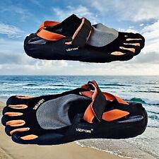 Vibram FiveFingers Barefoot Sport Shoes Black Orange Gray Mens 43 10