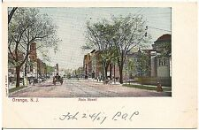 View on Main Street in Orange NJ Postcard 1907