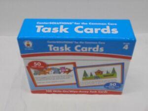Carson Dellosa Task Cards Grade 4 Math Language Arts