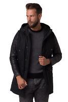 DIESEL Fishtail Parka Jacket Size L Zipped Cuffs Leather Sleeve J-BOPHA RRP €615