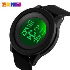 SKMEI Men's Date Sports Military LED Tactical Shock Waterproof Alarm Watch Black