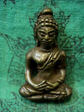 Khmer Buddha Statue Meditating Lopburee Old Figure Buddhist Ancient Thai Amulet
