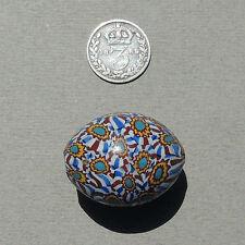 an old antique venetian 27mm oval millefiori african trade bead #166
