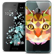 Coque Housse Etui Pour HTC U Play Polygon Animal Souple Fin Chat