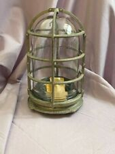 Vintage Unused Russell & Stoll Marine Explosion Proof Cage Lamp Light