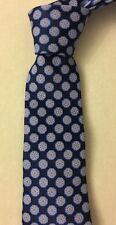 Valentino Blue Circle 100% Silk Tie Made In Italy Brand New NWT