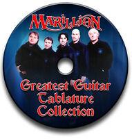 MARILLION PROGRESSIVE ROCK GUITAR TAB TABLATURE SONG BOOK ANTHOLOGY SOFTWARE CD