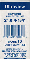 "DYNAFLUX UV2410GF HEAT TREATED GLASS FILTER PLATE 2""X4/1/4"" *NEW IN A BAG*"