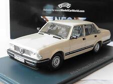 ALFA ROMEO 6 2500I 1985 WHITE NEO 45608 LHD 1/43 LEFT HAND DRIVE WEISS BIANCA