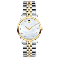Movado Museum Classic 0606613 Mother of Pearl/Two-Tone Silver/Gold Women's Watch