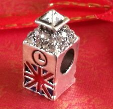 Charm Londra Big Ben Perline Fascino si adatta European Charm Bracelets Compleanno CH117