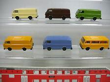 AF113-0,5# 6x Herpa H0 Modèle Volkswagen VW LT Bus/Transporter, TOP