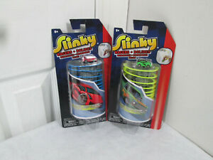 Slinky Racers Original Slinky Brand 2 sets Green and Red New