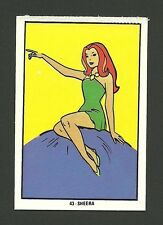 Mighty Mightor Sheera Vintage 1970s Hanna Barbera Cartoon Card from Spain #43