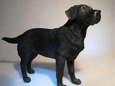 More details for black labrador dog figurine / ornament model black labrador figure gift present