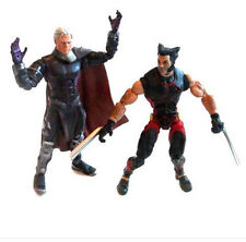 "Marvel Comics Legends X Men MAGNETO vs WOLVERINE 6"" toy figure set lot, logan"
