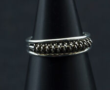 Bague de pied -bijoux d' orteil ethnika Dhara ajustable en metal blanc  W94 6323