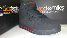 Akademiks Boy's High Top Sneakers Black Red/Lime/Grey Size 13.5-7 (A1532) (A532)