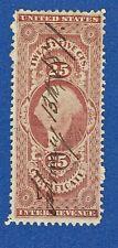 U.S. Revenue stamp scott r44 - 25 cent Certificate issue