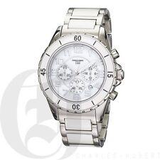 Charles Hubert Mens Chronograph Ceramic Watch Rotating Diver Bezel 3754-W