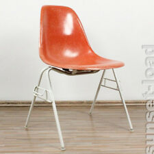 Eames Side Shell Chair Terracotta Fiberglas auf Stacking Base 60er 70er Jahre