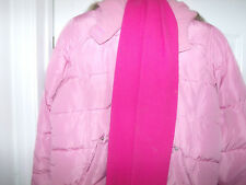 GIRLS SIZE 16 PINK WINTER COAT WITH SCARF