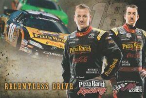 2011 Kyle Busch + Michael McDowell Pizza Ranch Toyota Camry NASCAR NNS Hero Card