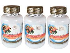 3x NCB Omega 7 Sea Buckthorn Fruit Oil 500 mg 60sg/bottl 6 Months Supply