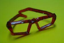 Vtg Barbie 60s Doll Accessory Red Tortoise Shell Glasses No Label Bubblecut #136