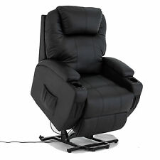 Kenwell Power Lift Real Leather Recliner Armchair Elderly Chair Lounge Seat