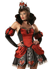Gothic Alice In Wonderland Red Queen Of Broken Hearts Halloween Costume Xs