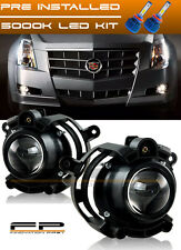 2008-2013 Cadillac CTS LED Replacement Projector Fog Light Housing Assembly Pair