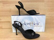 Coloriffics Sophia Women��s Black Sling Back Sandal US Size 8.0M