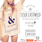 """Siser Easyweed IRON-ON Heat Transfer Vinyl 15"""" x 9"""", 12"""", 1,3,5,10,25 and 50 Yd photo"""