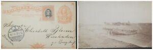 O) 1907 COSTA RICA, WIESBADEN 1 b CANCELLATION, POSTAL STATIONERY 2c - STATIONAR