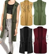 Polyester Collared Waistcoats for Women