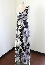 Abstract Floral One Shoulder Ruffle Beaded Prom Dress Evening Formal Gown 3 / 4
