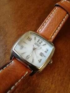 Citizen Eco-Drive Donna orologio polso pelle water resistant 16P genuine leather