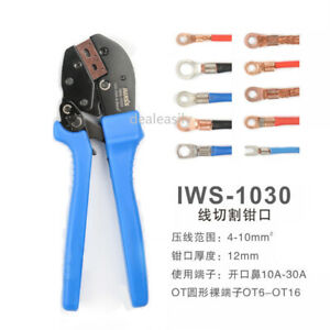 IWISS IWS-1030 Wire Clamp Pliers Wire Terminal Crimping Pliers Tool 4-10mm2