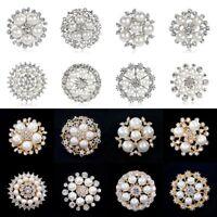 Women Wedding Bridal Bouquet Flower Rhinestone Crystal Brooch Pin Jewelry Gift
