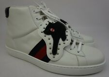 42925290f7a Gucci Ace Removable Patch Sneaker Panther High Tops White Shoes Size 9 G    10 US