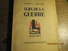 Voix de la guerre Cardinal Mercier 1937