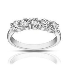 1.25 Ct Ladies Round Cut Diamond Wedding Band Ring In Platinum