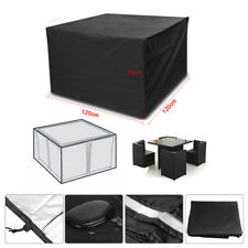 Heavy Duty Square Cube Cover Waterproof Garden Patio Table Chair Set Protection