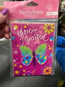 +Butterfly Invitations Birthday Wedding Event Spring Summer Rebirth New!