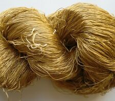 Luxury Laceweight Silk Yarn, 100g. Beige. For Weaving/Textiles