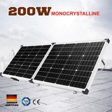 200W Folding Solar Panel Kit 12V Caravan Camping Power Mono Charging 200Watt